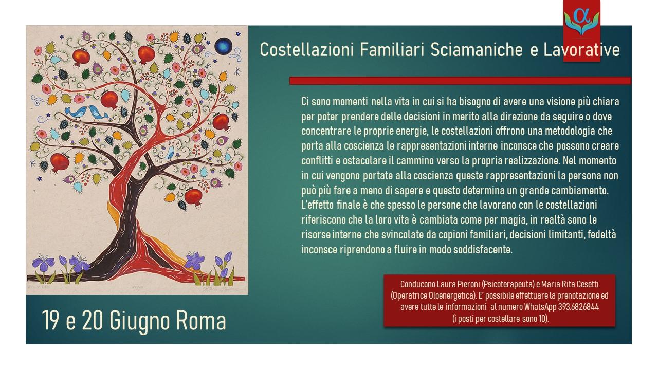 """Seminario di """"costellazioni familiari sciamaniche e lavorative"""""""